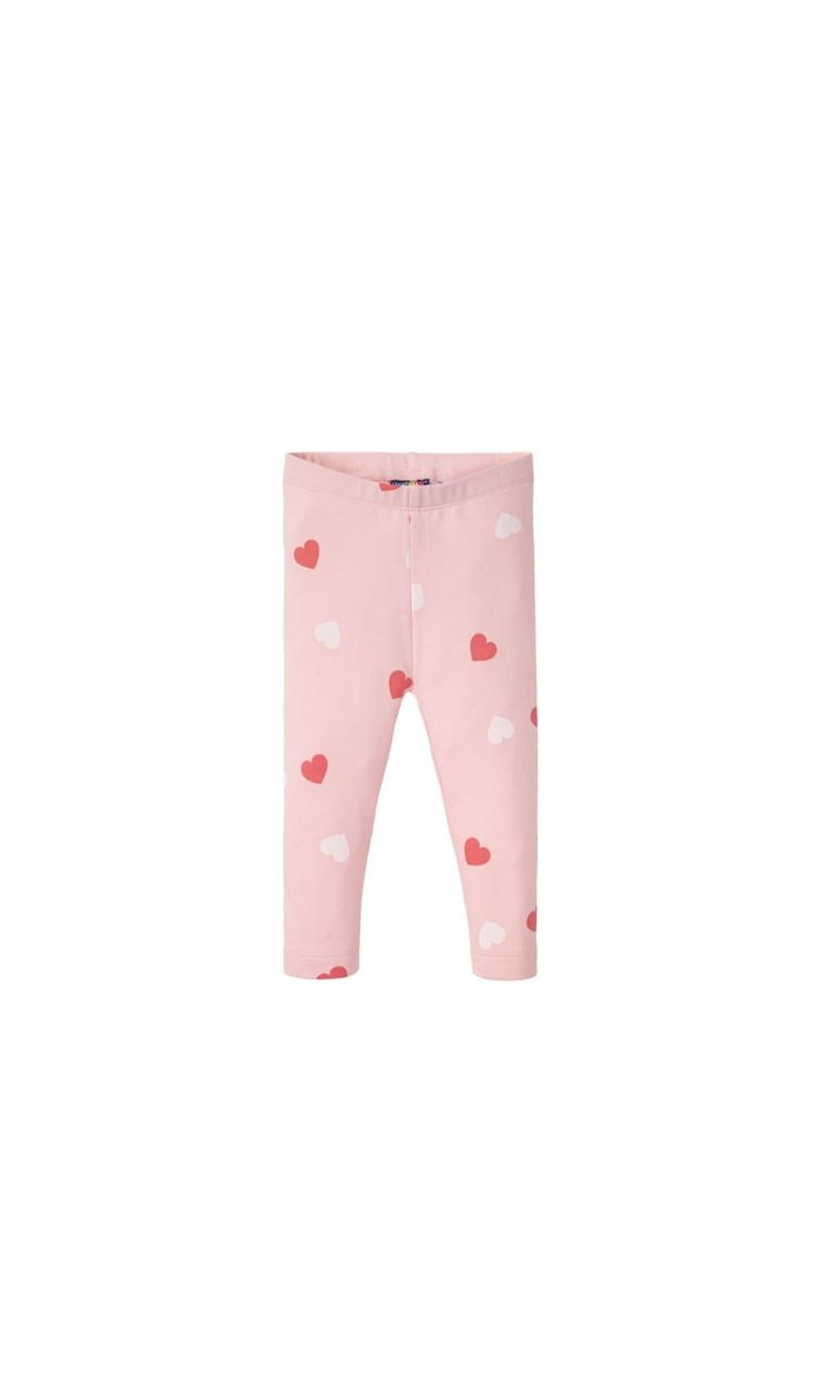 Лосины утепленные  розовые в сердечк Lupilu р. 74/80см