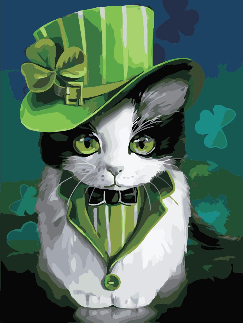Художественный творческий набор, картина по номерам Кот в шляпе, 30x40 см, «Art Story» (AS0923)