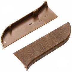 Заглушка ліва для плінтус-короб TIS 25 Горіх бразильський