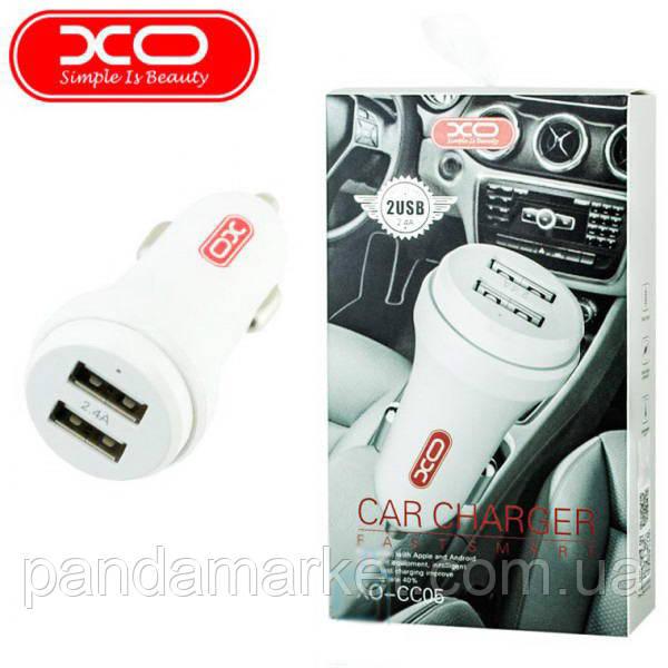 Автомобильное зарядное устройство XO CC05 2USB 2.4A Белый