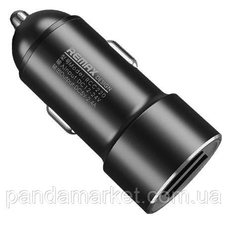 Автомобильное зарядное устройство Remax RCC-220 Rechan 2.4A 2USB Черный