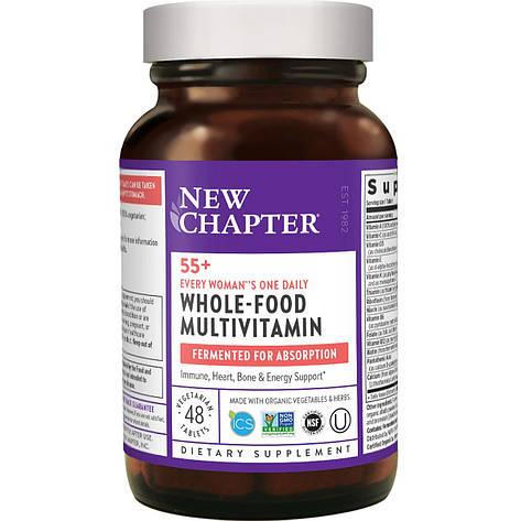 Ежедневные Мультивитамины Для Женщин 55+, Every Woman, New Chapter, 48 Таблеток, фото 2