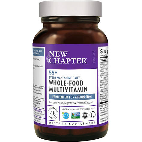 Ежедневные Мультивитамины для Мужчин 55+, Every Man's One Daily, New Chapter, 48 таблеток, фото 2