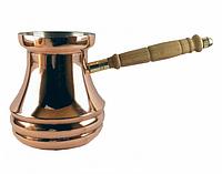 """Мідна турка для кави """"3 смужки"""" 350 мл. Артемівськ"""