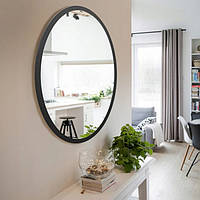 Зеркало настенное овальное черное 700 х 500 мм, фото 1