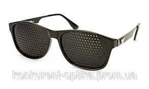 Очки-тренажеры в роговой оправе черные