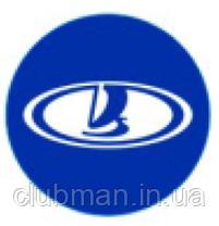 Защитные колпачки на ниппеля ВАЗ Лада (Lada)  4 шт Синий фон Cеребристые, фото 3