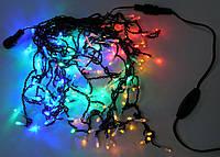 Гирлянда бахрома уличная 100 LED 5м разноцветная, фото 1