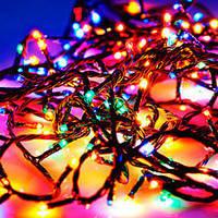 Гирлянда бахрома уличная 200 LED 10м разноцветная, фото 1