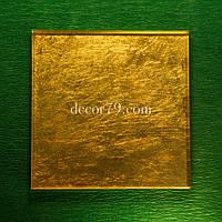 Золотая плитка 90х90мм ORO VETRO настоящее золото 24 карата, Суперпрозрачное стекло DIAMANT, фото 1