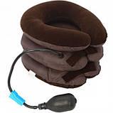 Надувная подушка для шеи Ting Pai Коричневая, фото 2