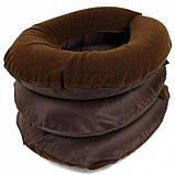 Надувная подушка для шеи Ting Pai Коричневая, фото 3