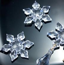 """Декоративный кристалл """"Снежинка"""" с отверстиями, 4,4  см, 1 шт."""