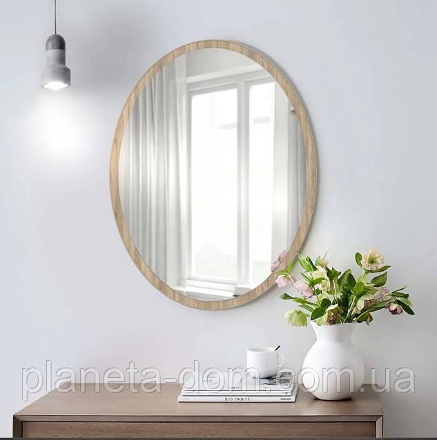 Зеркало настенное овальное сонома 700 х 500 мм