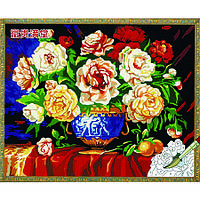 ИДЕЙКА рисование по номерам Разноцветные чайные розы