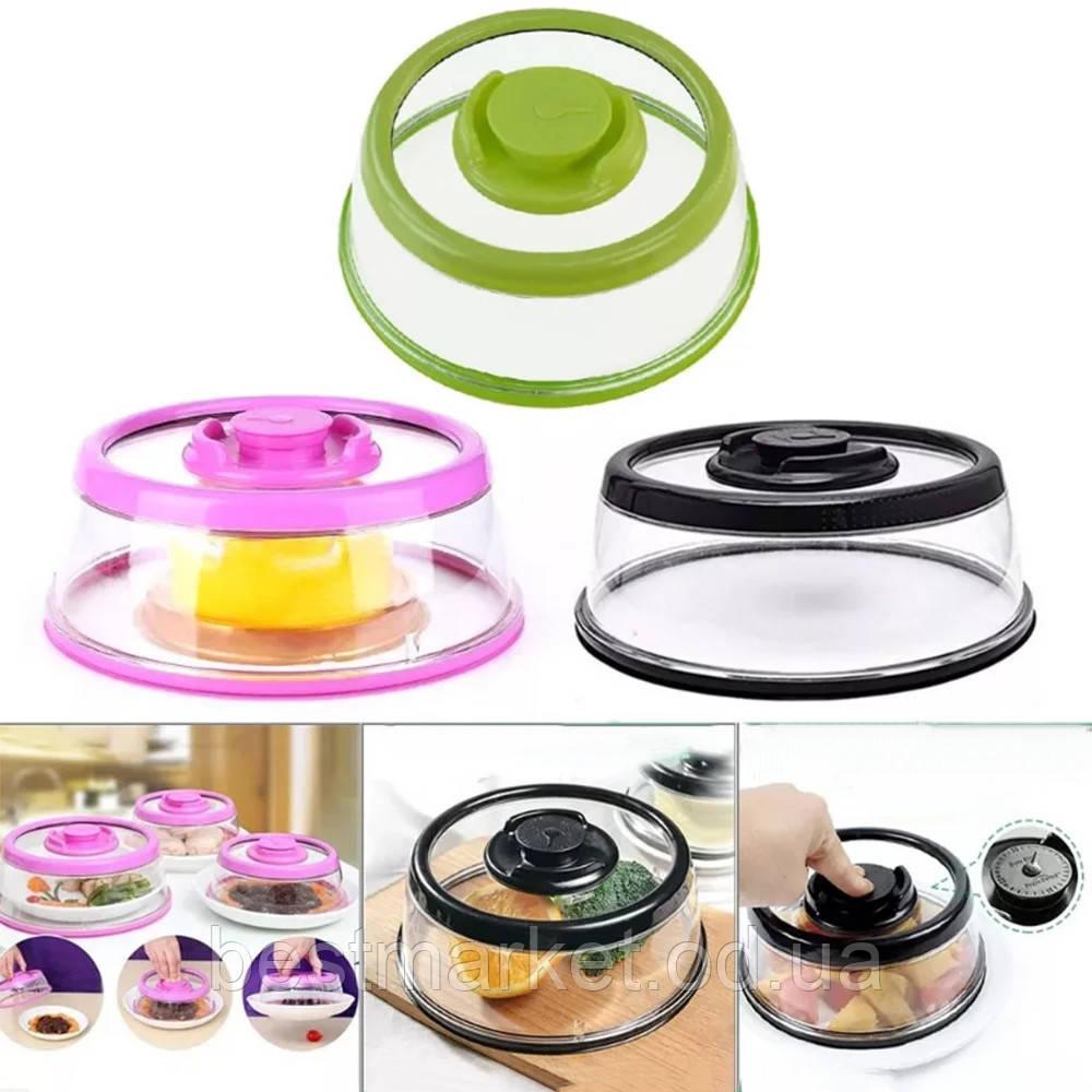 Вакуумна Багаторазова Кришка для Харчових Продуктів Vacuum Food Sealer Середній 25 х 6,7 см
