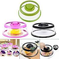 Вакуумна Багаторазова Кришка для Харчових Продуктів Vacuum Food Sealer Середній 25 х 6,7 см, фото 1
