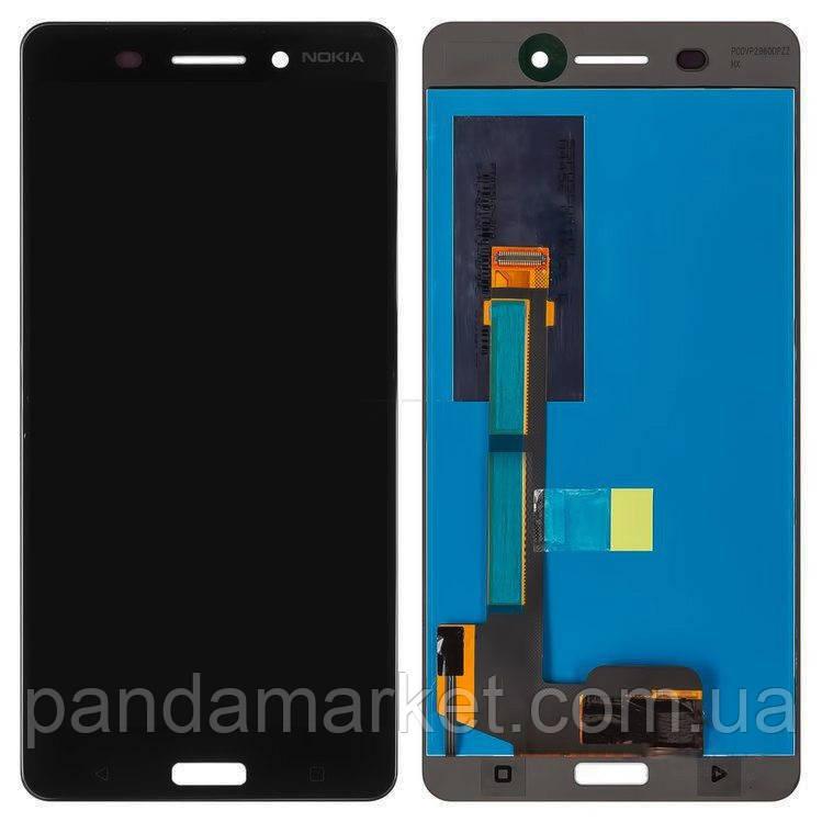 Дисплей модуль Nokia 6 (TA-1000, TA-1021) Dual Sim Черный