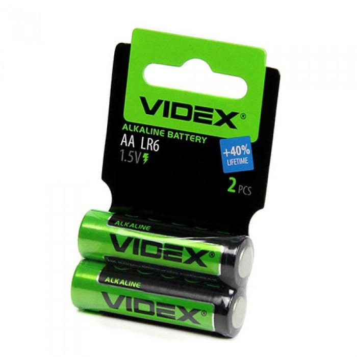Батарейка щелочная VIDEX LR6 (AA) 1.5V пальчиковая 1шт