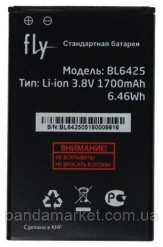 Аккумулятор Fly FS454 BL6425