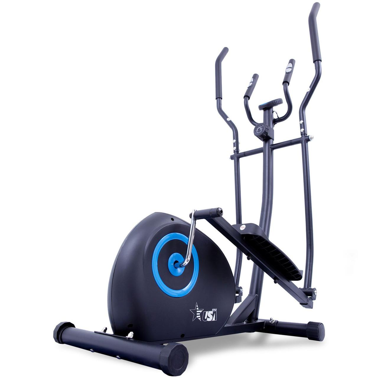 Орбітрек магнітний для дому до 110 кг USA Style чорний з синім US221