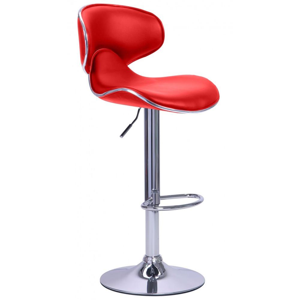 Барний стілець зі спинкою Bonro B-678 червоний