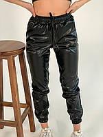 Жіночі штани еко-шкіра на флісі 42-46 рр.