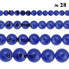 Бусины 6 мм Стеклянные под Жемчуг, Цвет Синий Ночной Перламутровый тон 28, Фурнитура для Бижутерии, фото 6