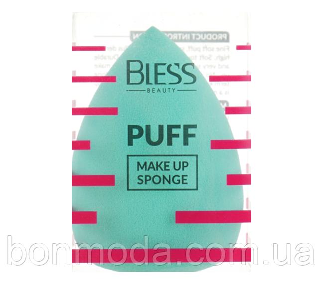 Спонж-капля, ментоловый Bless Beauty PUFF Make Up Sponge