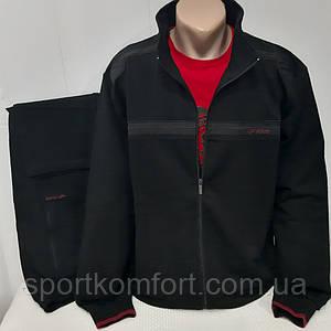 Великий спортивний костюм FORE Туреччина бавовна 74 розміри 3хл 4хл 5хл 6хл 7хл чорний