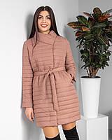"Женская весенняя куртка - пальто ""Тиффани"", цвет беж"