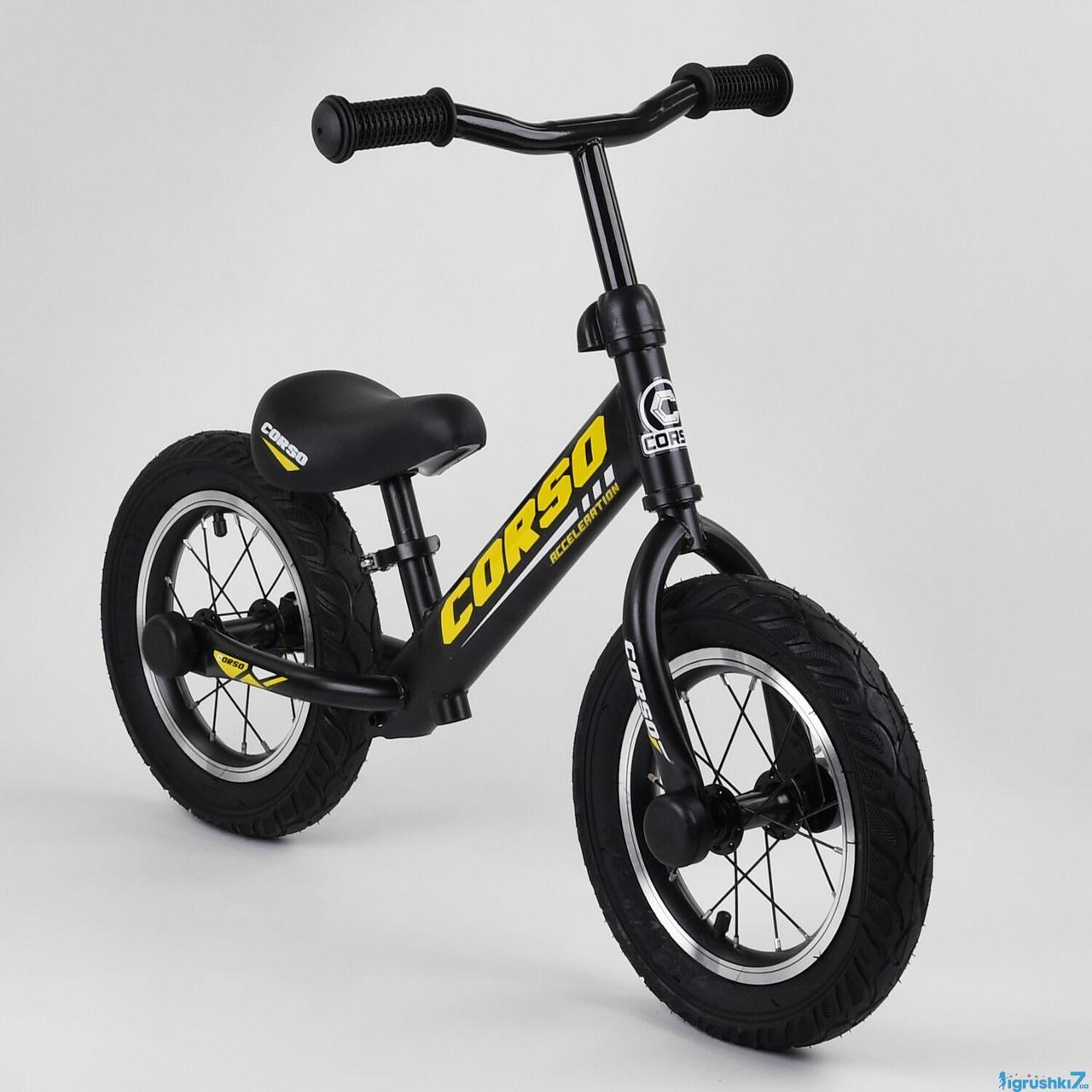 """Беговел велобіг від 73975 сталева рама, колеса 12"""" надувні гумові"""