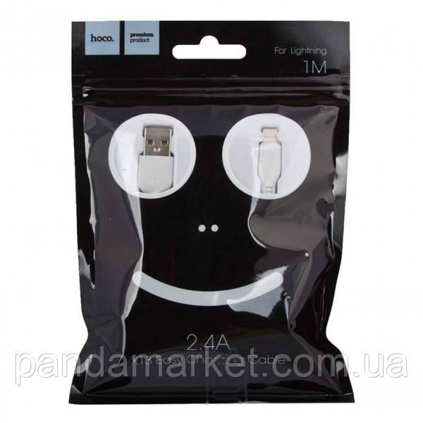 Кабель Apple Hoco X13 Easy Charge Apple Lightning 1m Білий