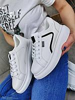Молодіжні кросівки з еко шкіри 38,41 р пудра, фото 1