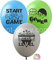"""Воздушные шары """"Best Gamer"""" 12""""(30 см) пастель ассорти В упак: 100шт ТМ Арт «SHOW»"""