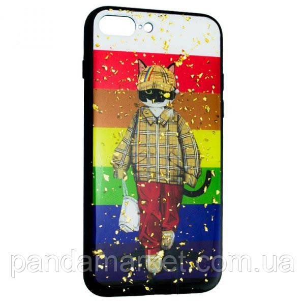 Чохол накладка Glue Case Apple iPhone 7 Plus, 8 Plus Кот