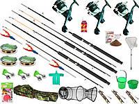 Наборы рыболова, Комплекты рыболовные, Спиннинг с катушкой, спиннинг в сборе полный комплект, Набор рыбака!