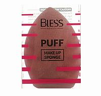 Спонж-капля, коричневый Bless Beauty PUFF Make Up Sponge