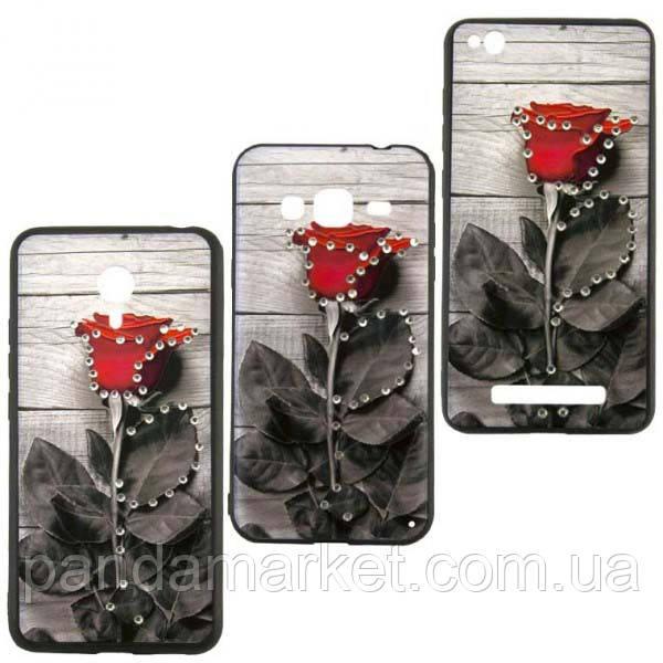 Чехол накладка Flower Case Samsung J3 (2017) J330 Plank Rose