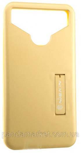 Универсальный чехол накладка Nillkin Soft Touch 4.5-4.7 Золотой