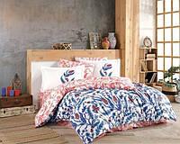 Евро комплект постельного белья HOBBY Poplin Sofia 200*220/2*50*70 см. (53530_2,0)