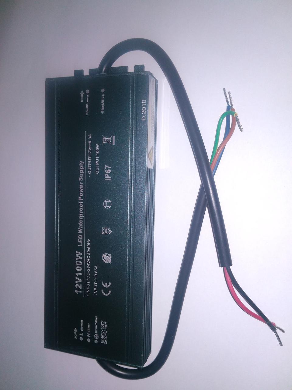 Блок живлення 12вольт 100вт PROLUM Slim герметичний IP67 223010