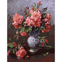 ИДЕЙКА рисование по номерам Картина Розовый букет