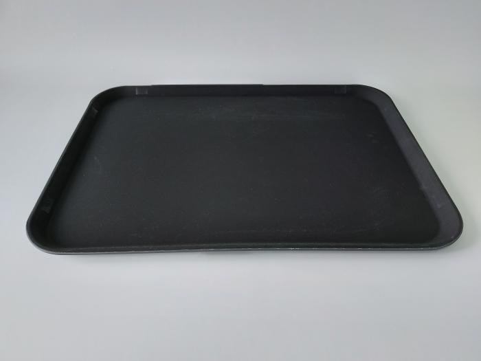Поднос антислип прорезиненный прямоугольный для бара Разнос для официанта пластиковый 66*46 / 61*41cm H 2,5cm