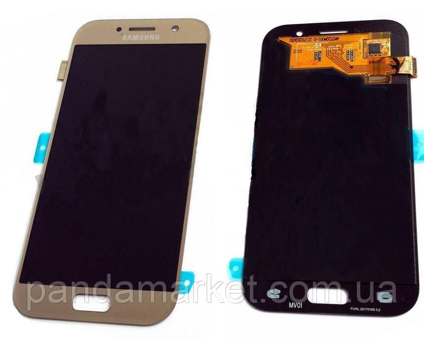 Дисплей модуль Samsung A520F A5 (2017) Золотий (Сервісний)