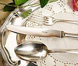 Англійські посріблені столові прилади для одного, ніж, вилка і ложка, сріблення, Англія, вінтаж, фото 3