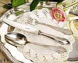 Англійські посріблені столові прилади для одного, ніж, вилка і ложка, сріблення, Англія, вінтаж, фото 2