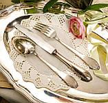 Англійські посріблені столові прилади для одного, ніж, вилка і ложка, сріблення, Англія, вінтаж, фото 7