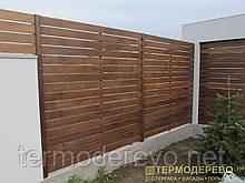 Забор из термоясеня тип2