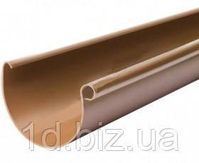 Желоб водосточной системы Бриза (Bryza) 125 мм медный